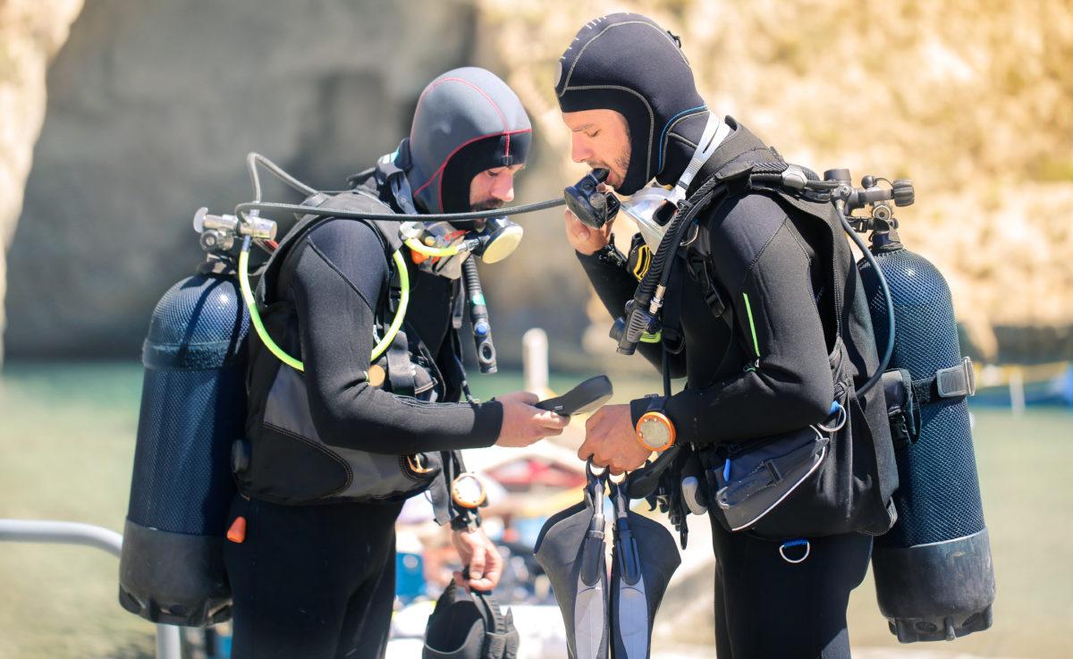 Skafandry do nurkowania